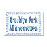 Brooklyn Park Minnesnowta Car Magnet 20 x 12