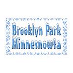 Brooklyn Park Minnesnowta 38.5 x 24.5 Wall Peel