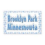 Brooklyn Park Minnesnowta 22x14 Wall Peel