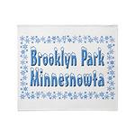 Brooklyn Park Minnesnowta Throw Blanket