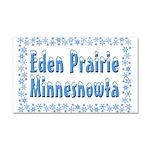 Eden Prairie Minnesnowta Car Magnet 20 x 12