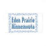 Eden Prairie Minnesnowta Aluminum License Plate