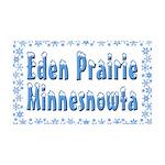 Eden Prairie Minnesnowta 38.5 x 24.5 Wall Peel