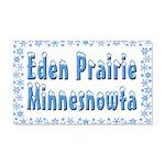Eden Prairie Minnesnowta 22x14 Wall Peel