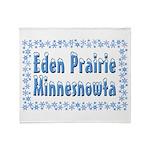 Eden Prairie Minnesnowta Throw Blanket