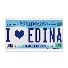 Edina License Plate 22x14 Wall Peel