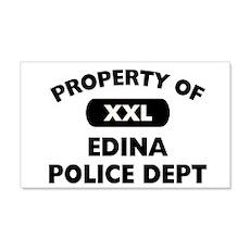 Property of Edina Police Dept 22x14 Wall Peel