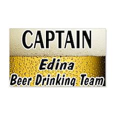 Edina Beer Drinking Team 22x14 Wall Peel