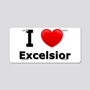 I Love Excelsior Aluminum License Plate