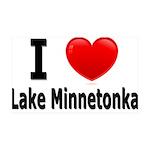 I Love Lake Minnetonka 38.5 x 24.5 Wall Peel