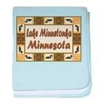 I Love Lake Minnetonka baby blanket
