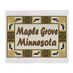I Love Maple Grove Throw Blanket