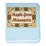 I Love Maple Grove baby blanket