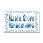 Maple Grove Minnesnowta Car Magnet 20 x 12