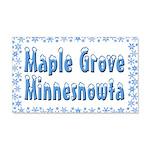 Maple Grove Minnesnowta 22x14 Wall Peel