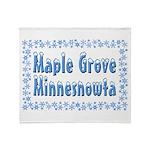 Maple Grove Minnesnowta Throw Blanket