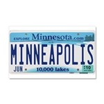Minneapolis License Car Magnet 20 x 12