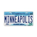 Minneapolis License Aluminum License Plate