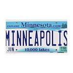 Minneapolis License 35x21 Wall Decal