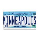 Minneapolis License 20x12 Wall Decal