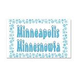 Minneapolis Minnesnowta Car Magnet 20 x 12