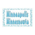 Minneapolis Minnesnowta 38.5 x 24.5 Wall Peel