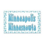 Minneapolis Minnesnowta 22x14 Wall Peel