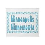 Minneapolis Minnesnowta Throw Blanket
