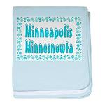 Minneapolis Minnesnowta baby blanket