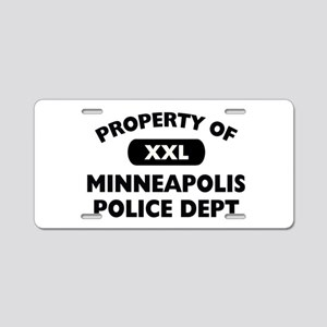 Property of Minneapolis PD Aluminum License Plate