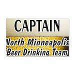 Minneapolis Beer Drinking Tea 22x14 Wall Peel