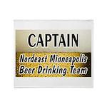 Minneapolis Beer Drinking Tea Throw Blanket
