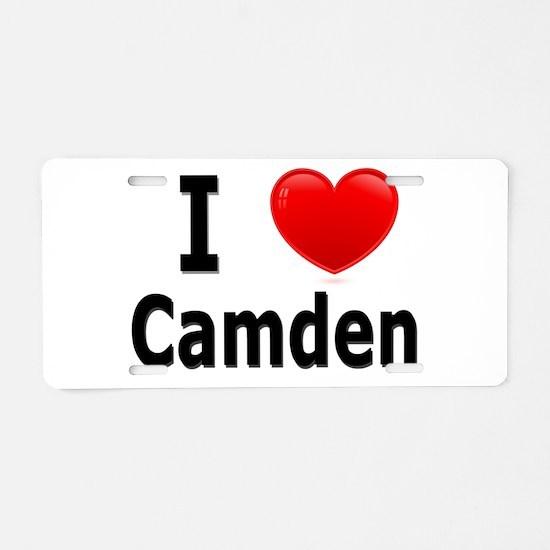 I Love Camden Aluminum License Plate