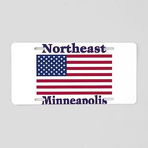 NE Minneapolis US Flag Aluminum License Plate