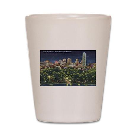 1946 Minneapolis Skyline at N Shot Glass