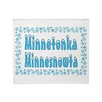 Minnetonka Minnesnowta Throw Blanket