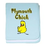 I Love Plymouth baby blanket
