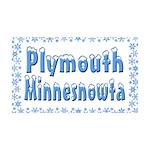 Plymouth Minnesnowta 38.5 x 24.5 Wall Peel