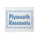 Plymouth Minnesnowta Throw Blanket
