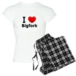 I Love Bigfork Women's Light Pajamas