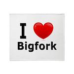 I Love Bigfork Throw Blanket