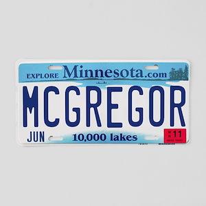 McGregor License Plate Aluminum License Plate
