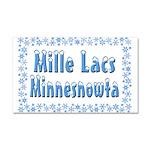 Mille Lacs Minnesnowta Car Magnet 20 x 12