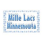 Mille Lacs Minnesnowta 38.5 x 24.5 Wall Peel