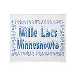 Mille Lacs Minnesnowta Throw Blanket