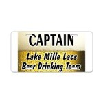 Mille Lacs Beer Drinking Team Aluminum License Pla