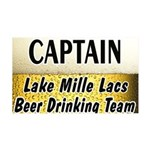 Mille Lacs Beer Drinking Team 38.5 x 24.5 Wall Pee
