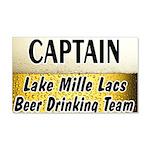 Mille Lacs Beer Drinking Team 22x14 Wall Peel