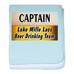 Mille Lacs Beer Drinking Team baby blanket