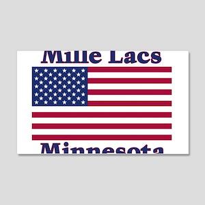 Mille Lacs US Flag 22x14 Wall Peel
